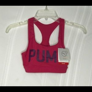 Puma Hot Pink Exercise Athletics Work Out Bra New